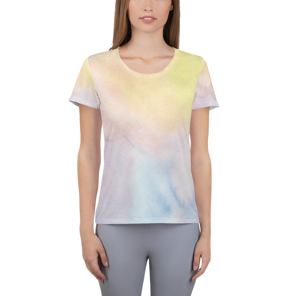 workout t-shirt for women with pastel colour design