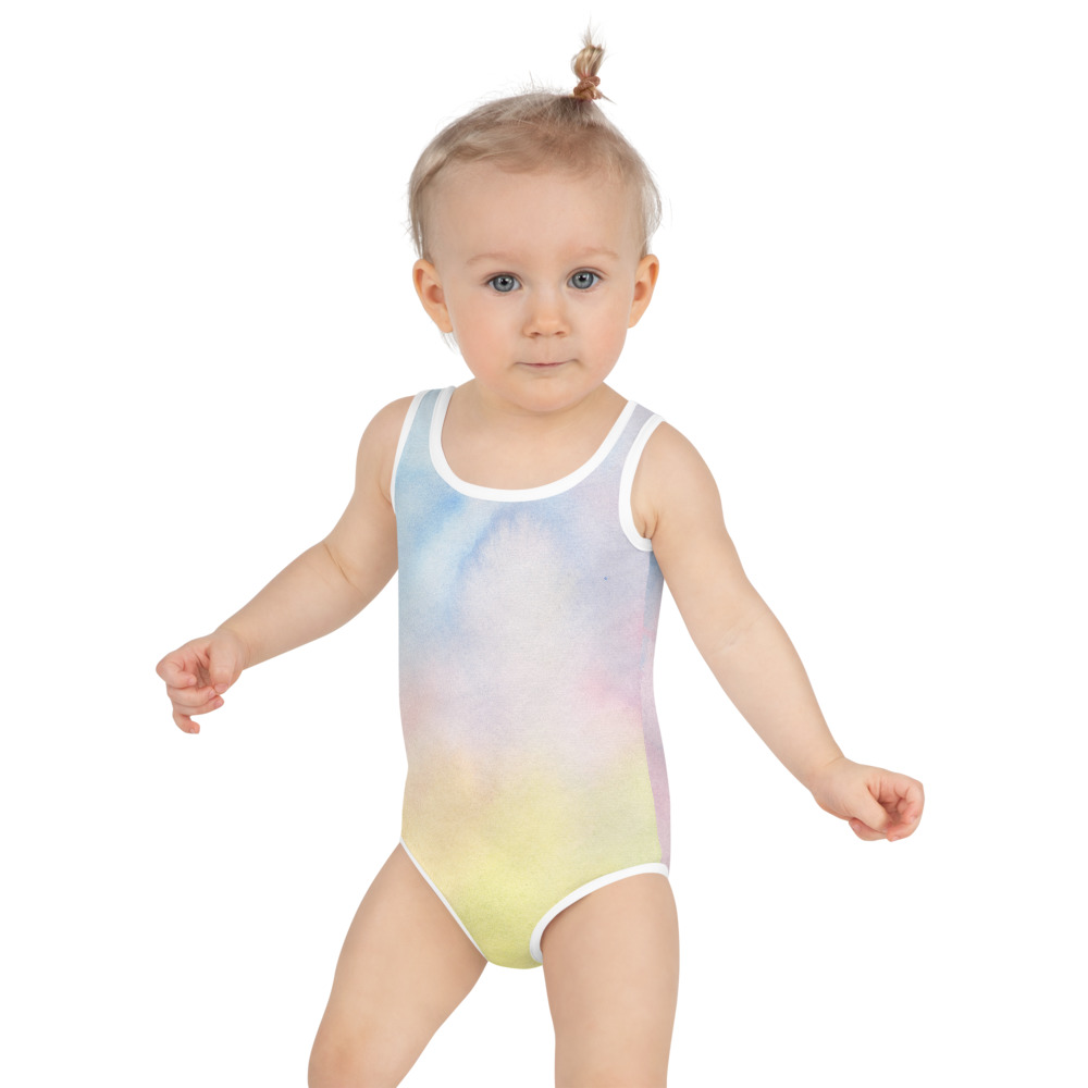 colourful swimsuit for kids between 2 and 8 years old.