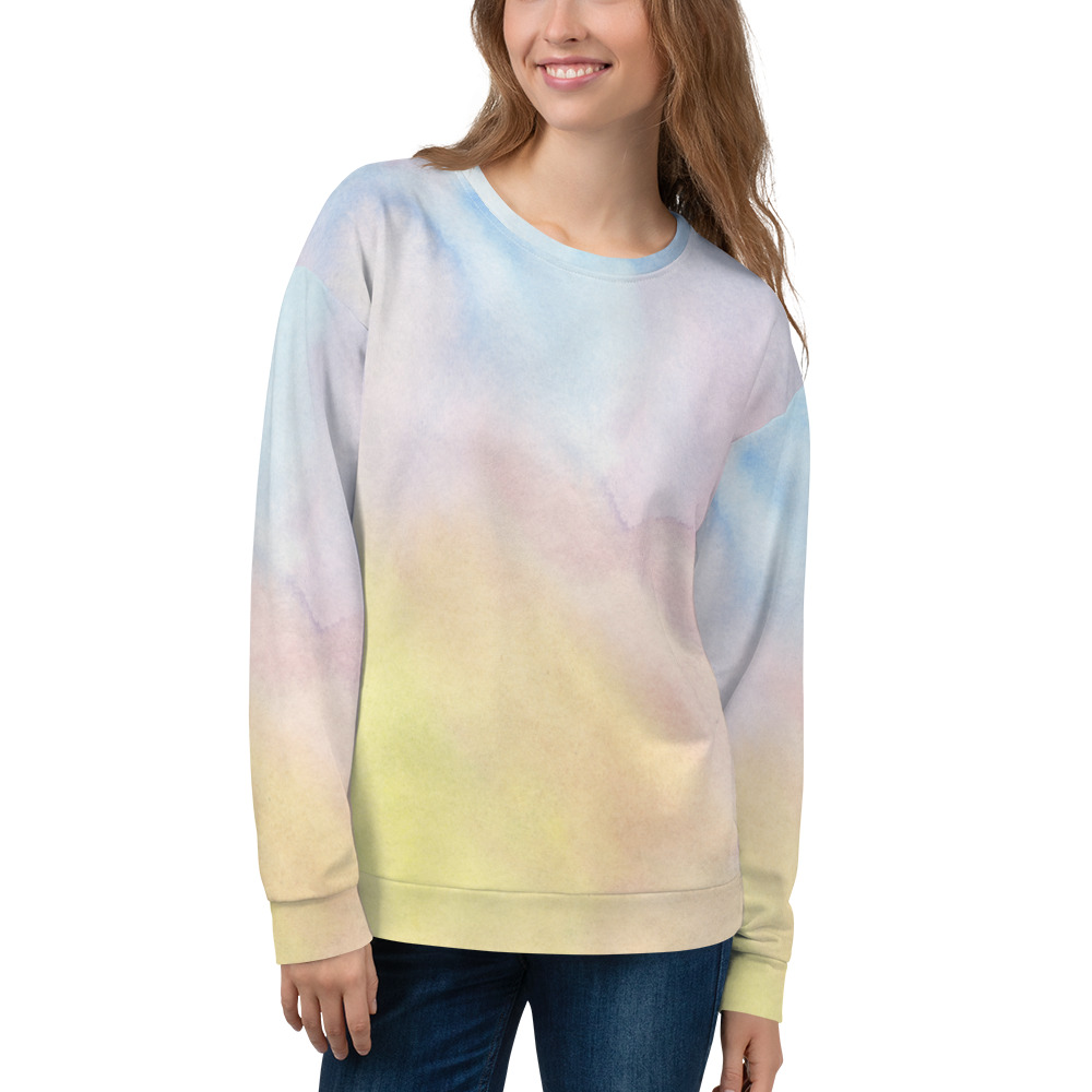 soft sweatshirt in pastel colours for men and women