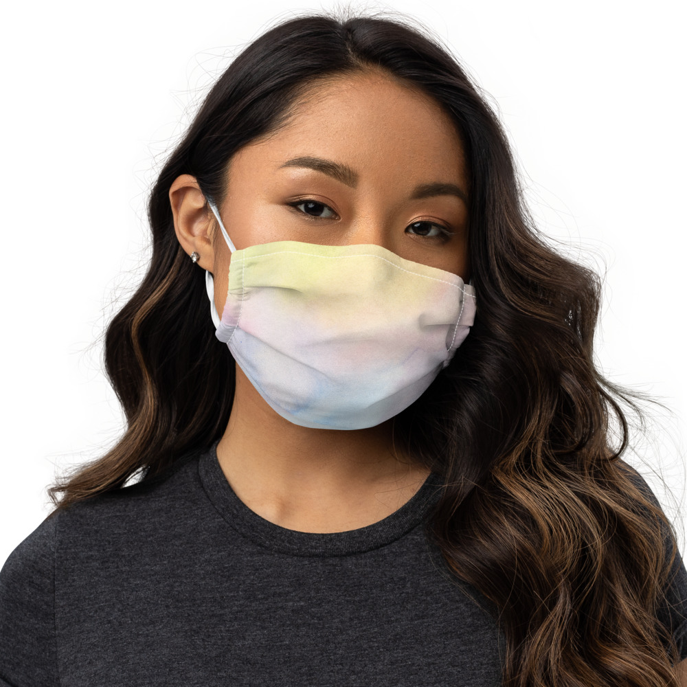 reusable face mask with colourful design