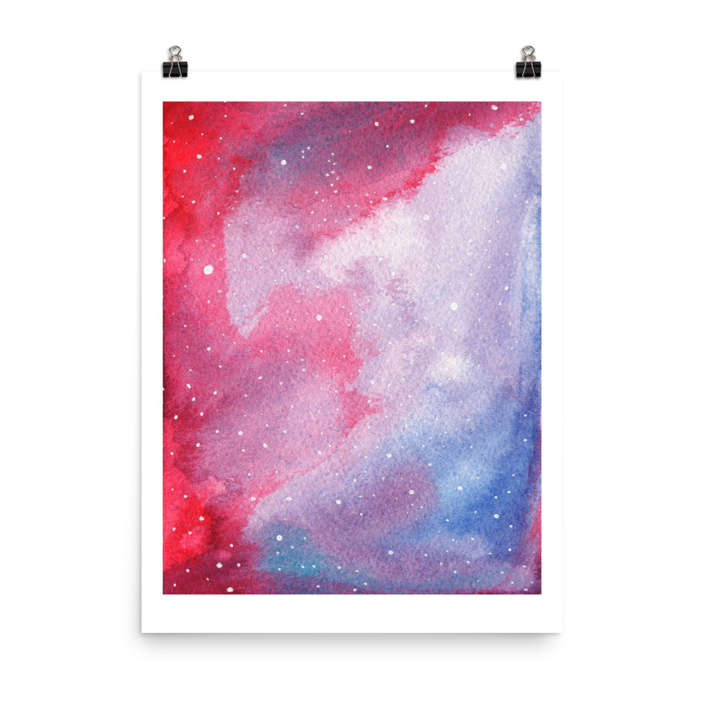 Galaxy Red painted with watercolour