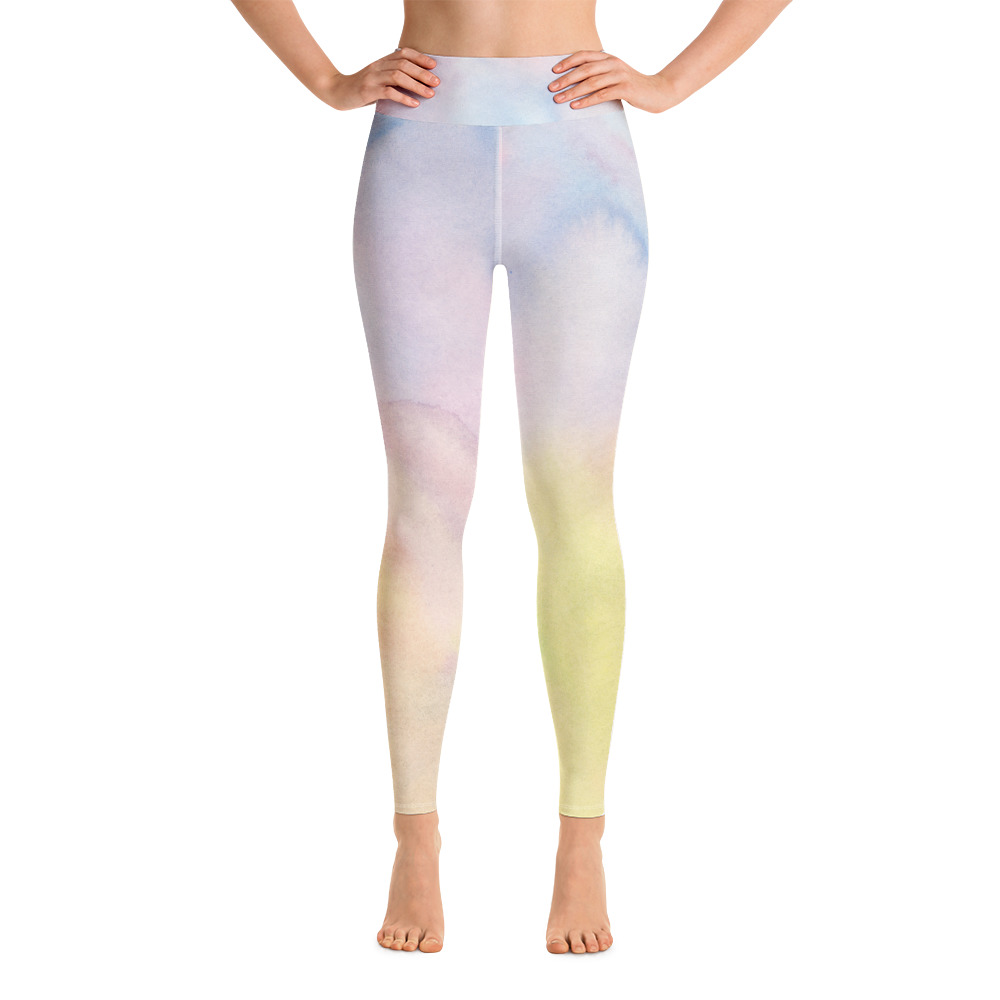 supersoft gym leggings in pastel shades