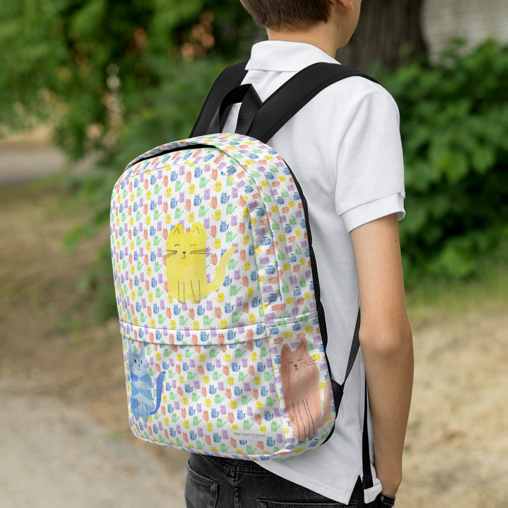 backpack for kids with all over cat print