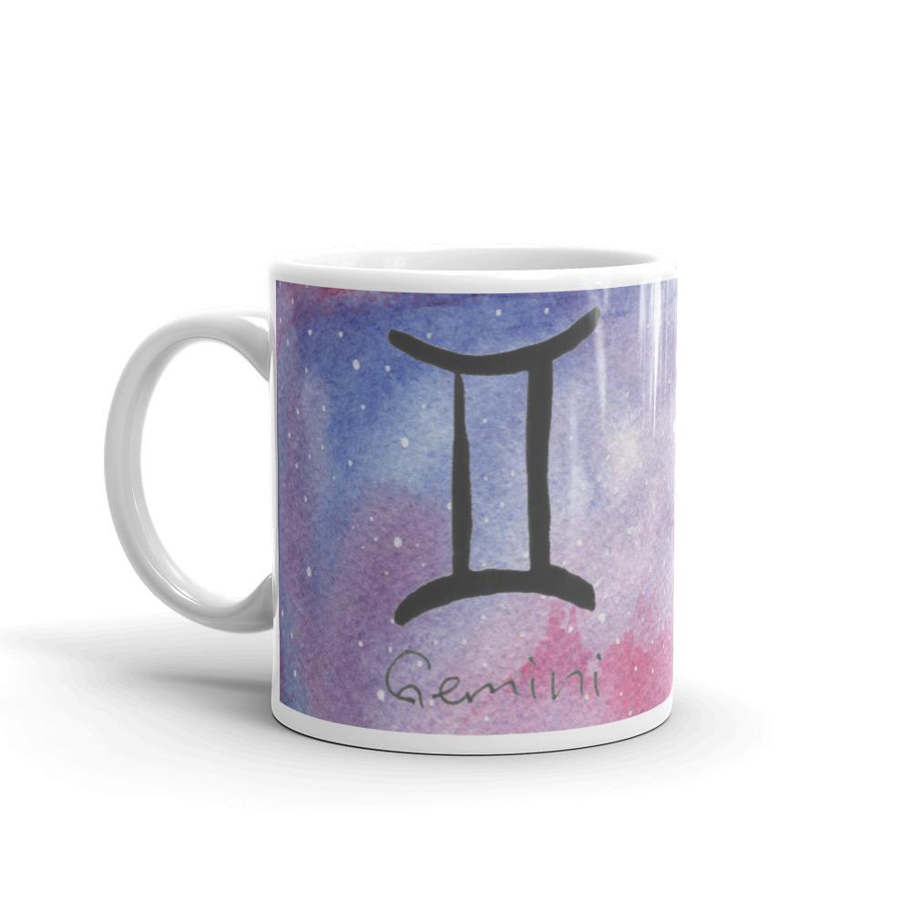 Galaxy mug with gemini zodiac sign