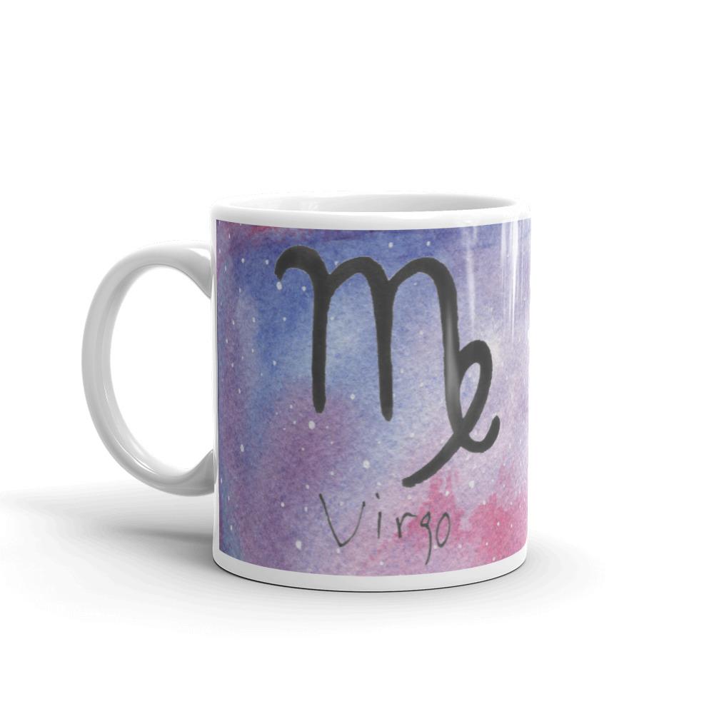 Galaxy mug with virgo zodiac sign