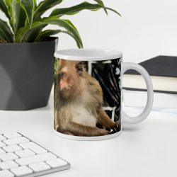 Mug with print of a monkey from Thailand