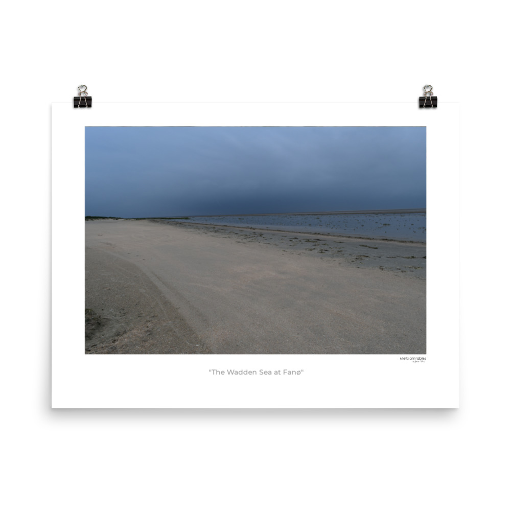 Photo poster called The Wadden Sea at Fanø