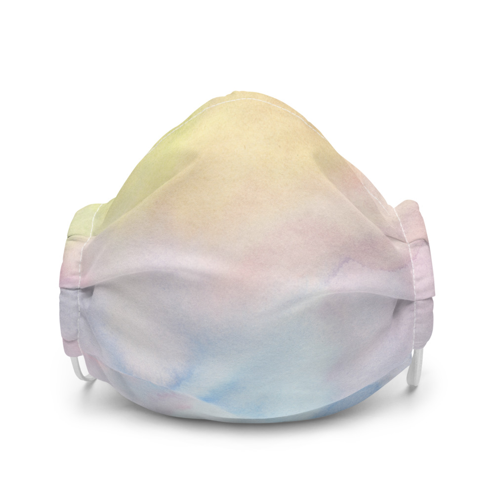 reusable face mask in pastel shades