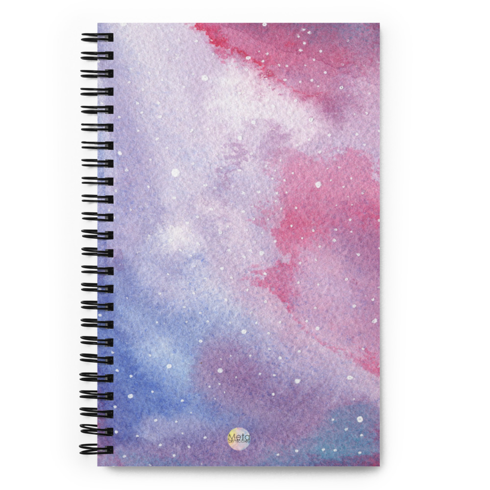 bullet journal with galaxy watercolor design